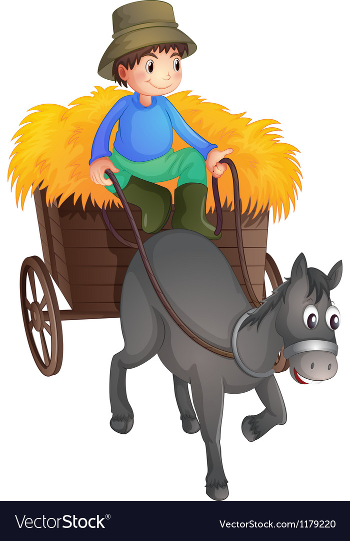 A man with a horse Vector Image