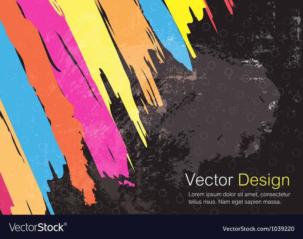 Color paint stripe background design vector image