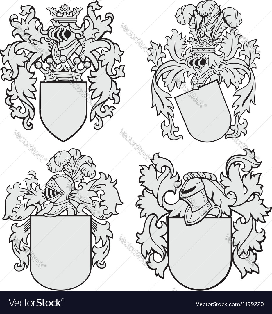 Set of aristocratic emblems No4 vector image