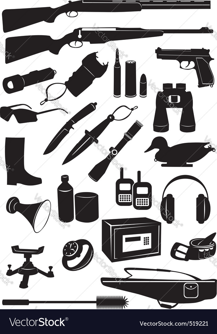 Icon hunting vector image