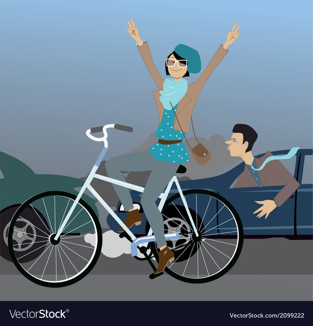 Beat the traffic on a bike vector image