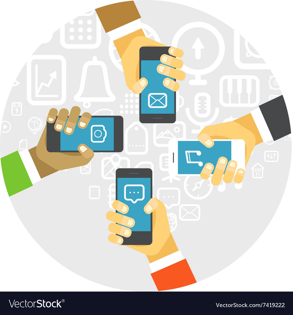 Business people communication concept vector image