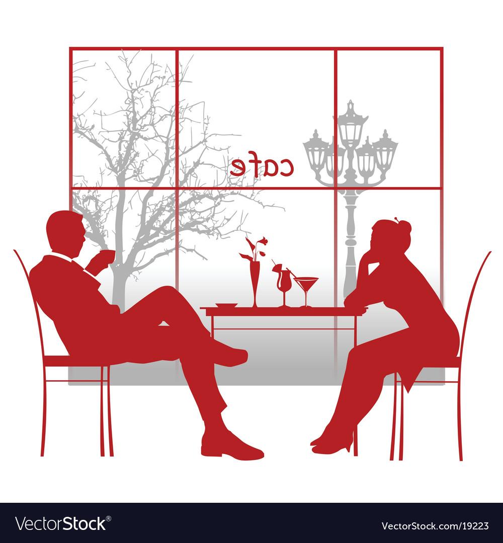 Cafe romantics vector image