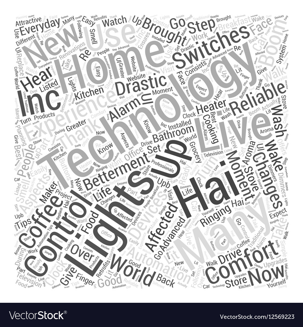 Home automation by off Word Cloud Concept Vector Image