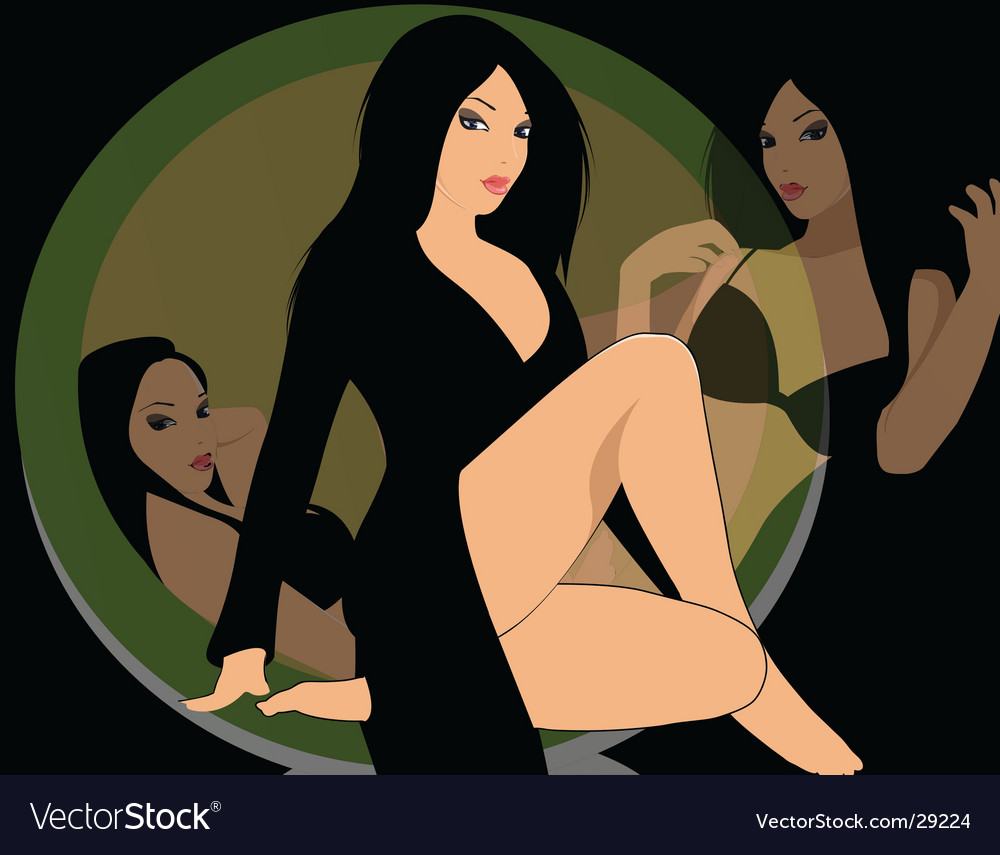 Woman vector image