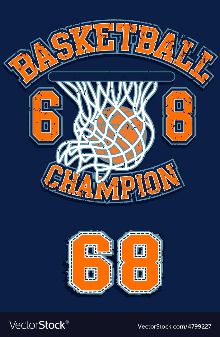Basketball Champion vector image