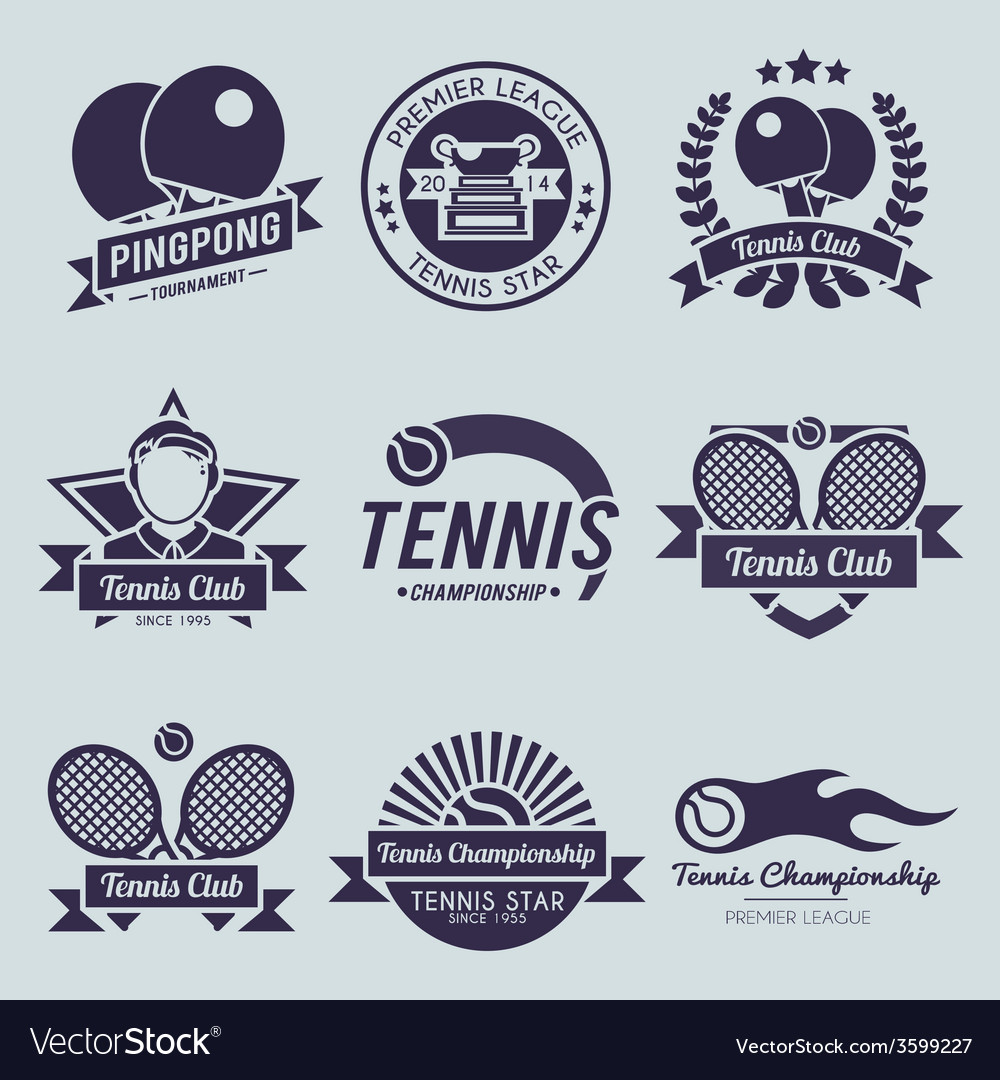Tennis Label Black vector image