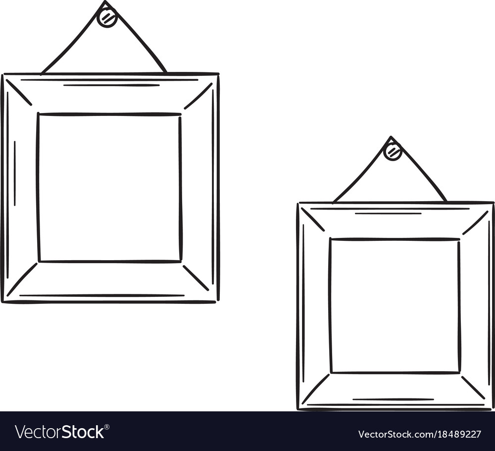 Two simple frames in the sketch style royalty free vector two simple frames in the sketch style vector image jeuxipadfo Images