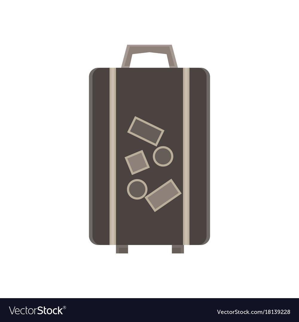 Travel bag suitcase luggage trip tourism concept vector image