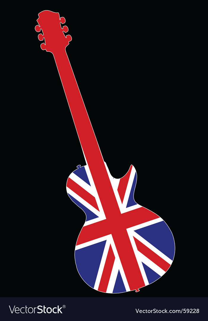 UK guitar vector image
