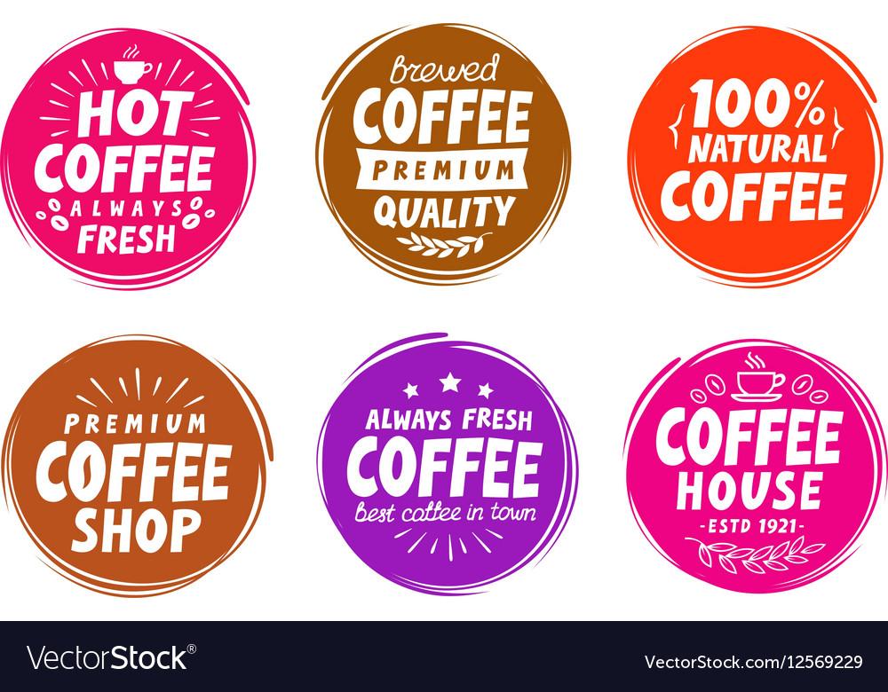 Coffee espresso symbols Set elements for design vector image