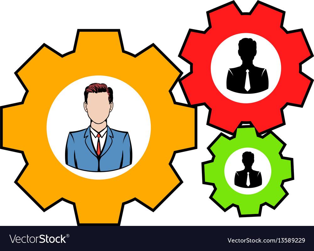 Human resources icon icon cartoon vector image