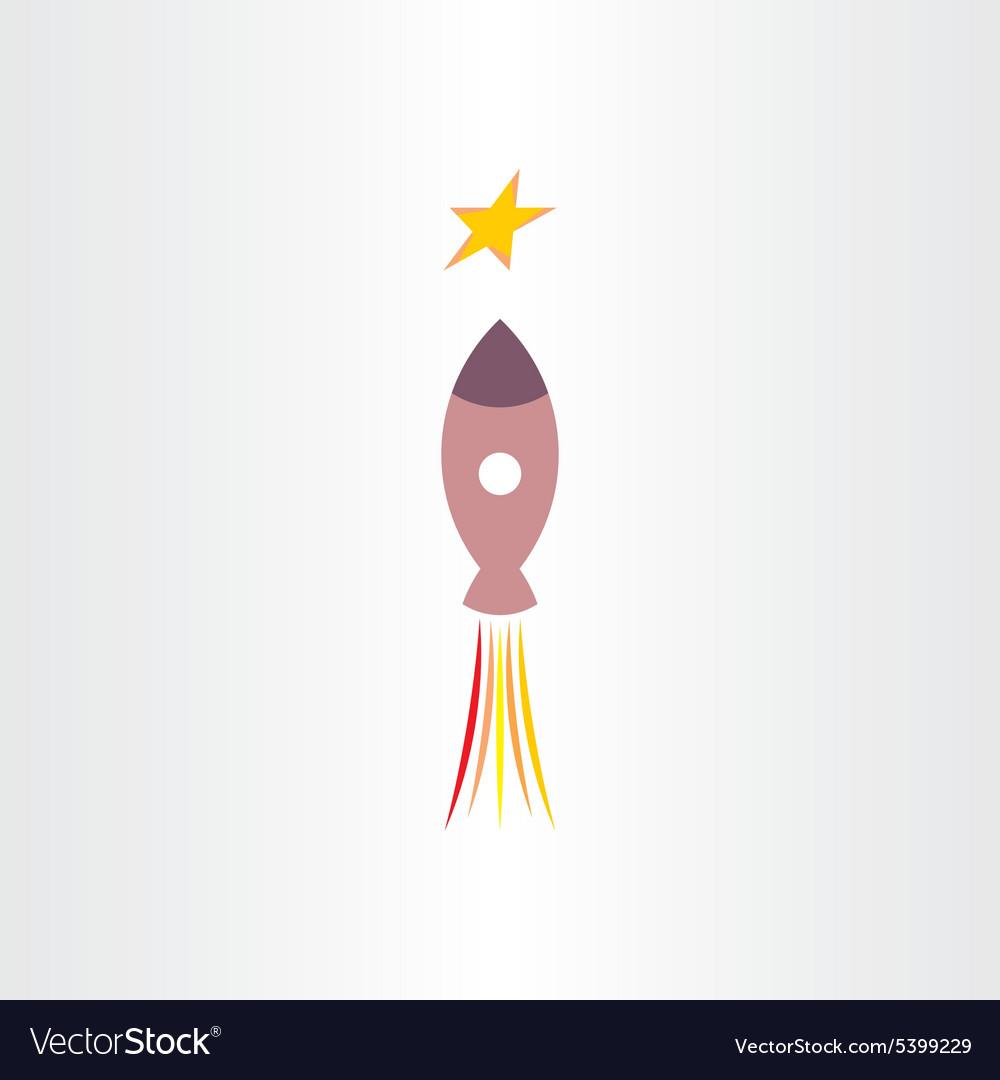 Rocket travel in universe star icon vector image