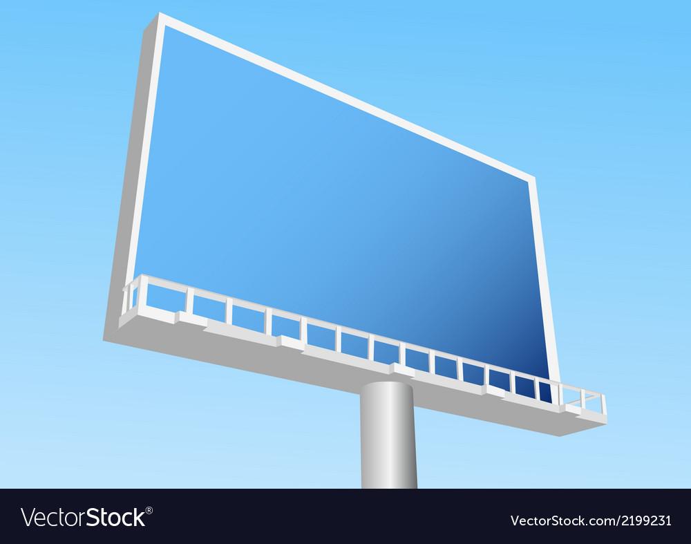 Billboard outdoor vector image