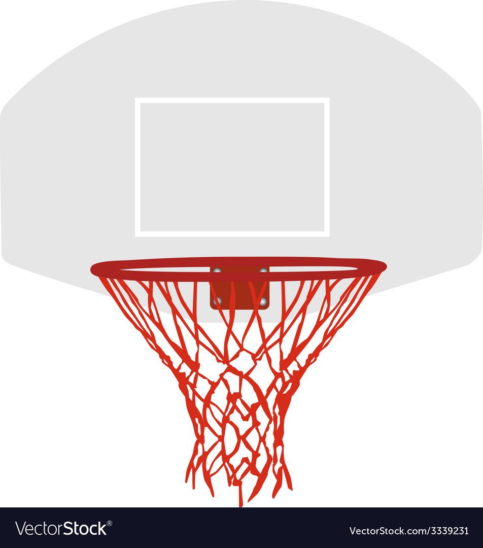 Grey basketball basket vector image