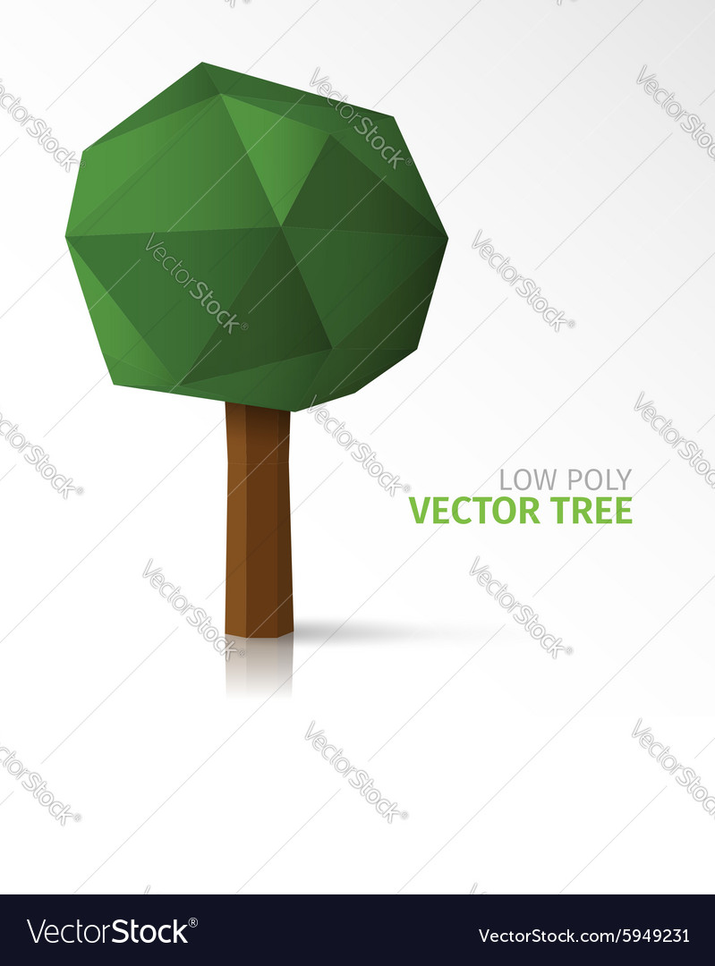 Low poly tree vector image