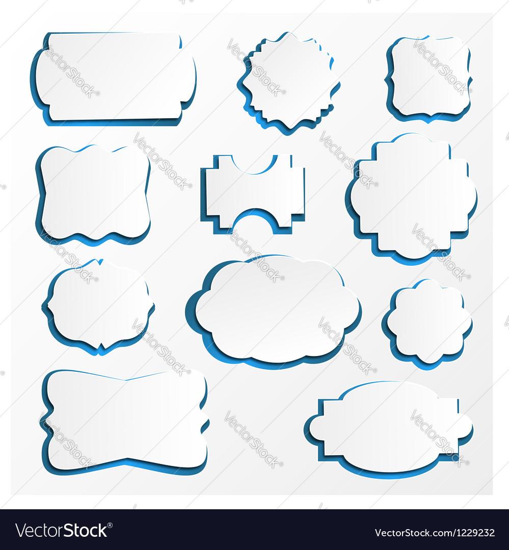 Ornate Paper Frames vector image