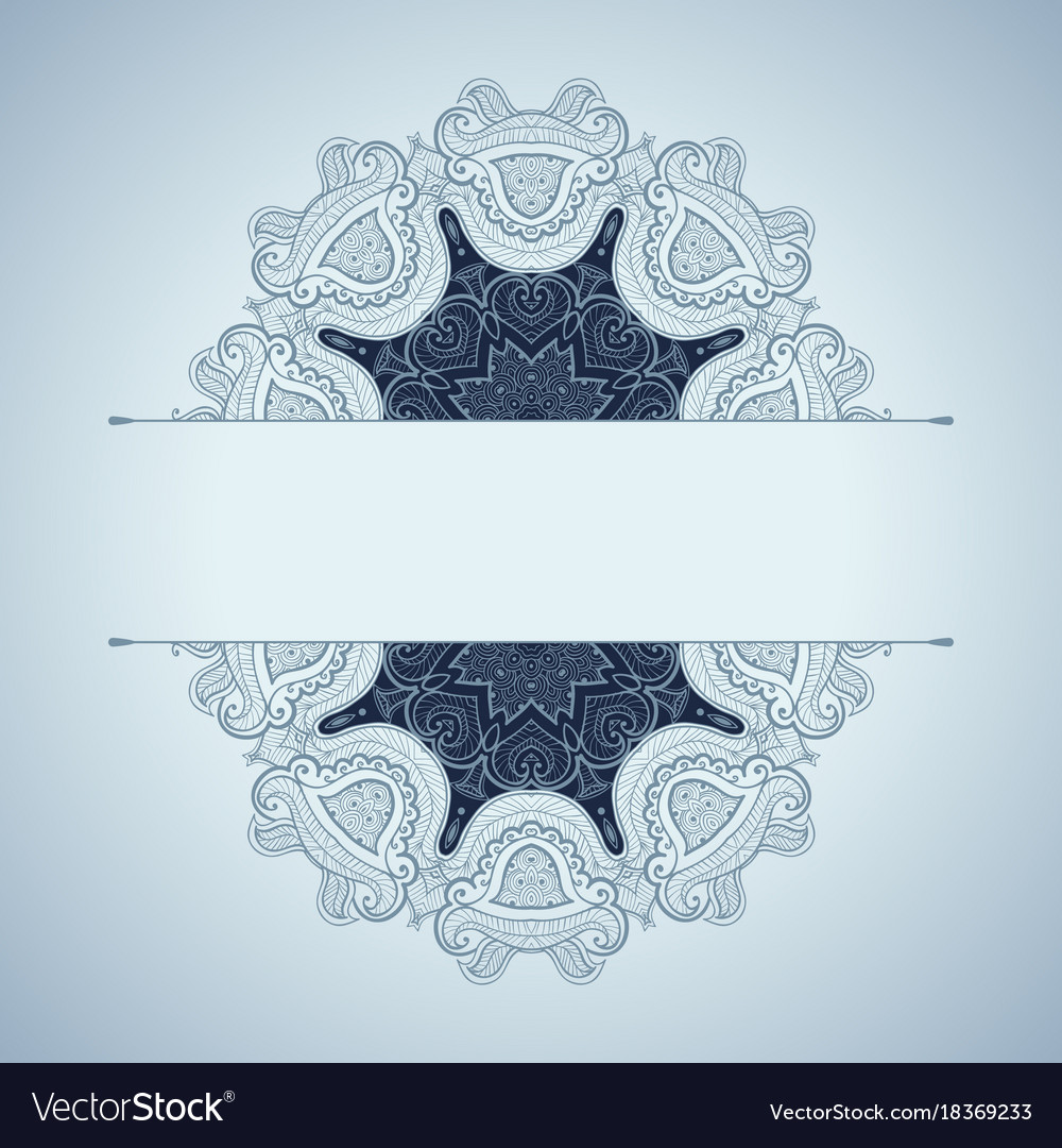 Template of invitation or card beautiful mandala vector image