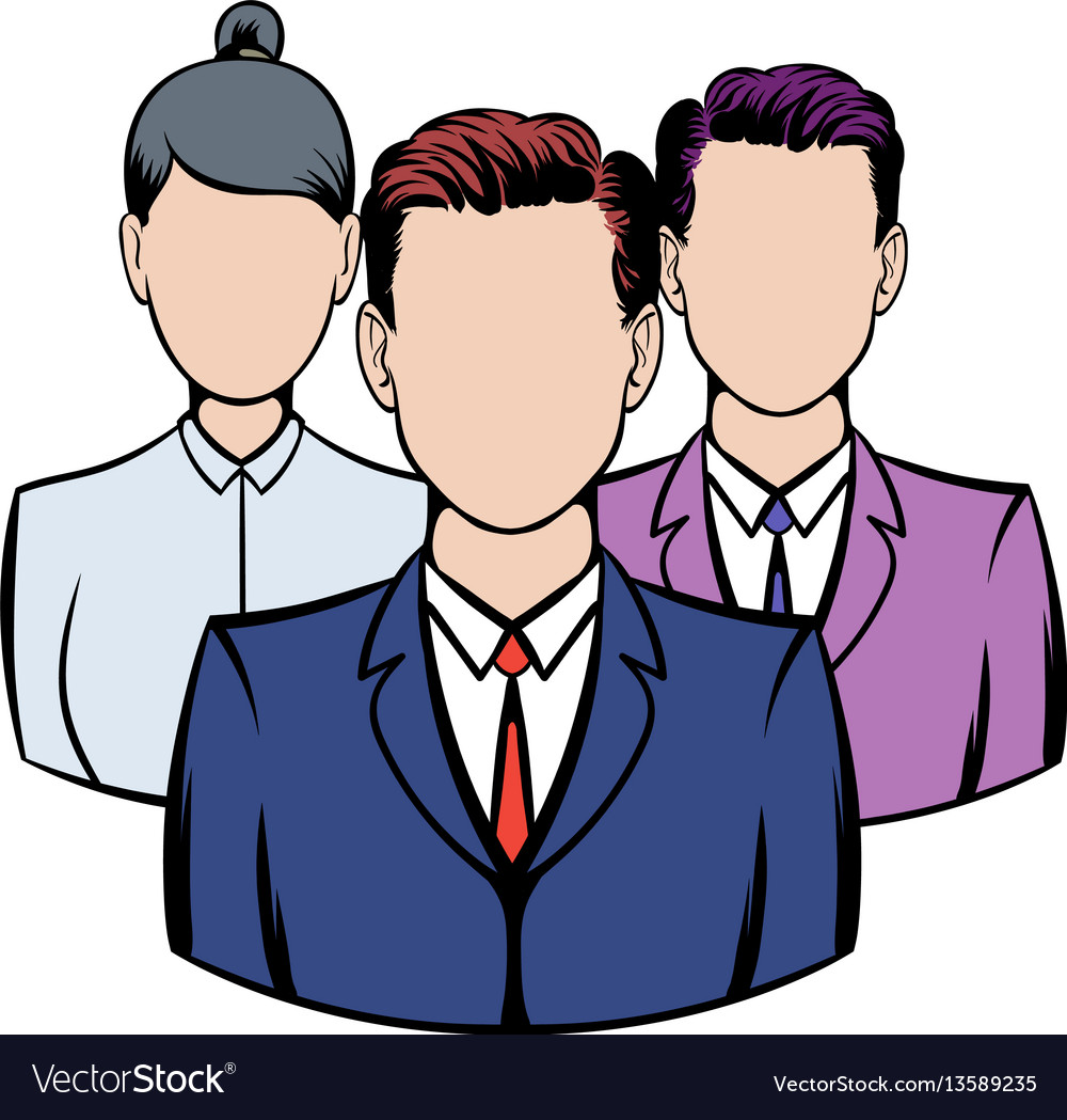 Business team icon icon cartoon vector image