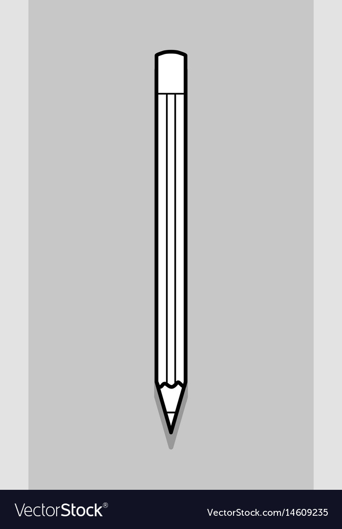 Thin line pencil icon vector image