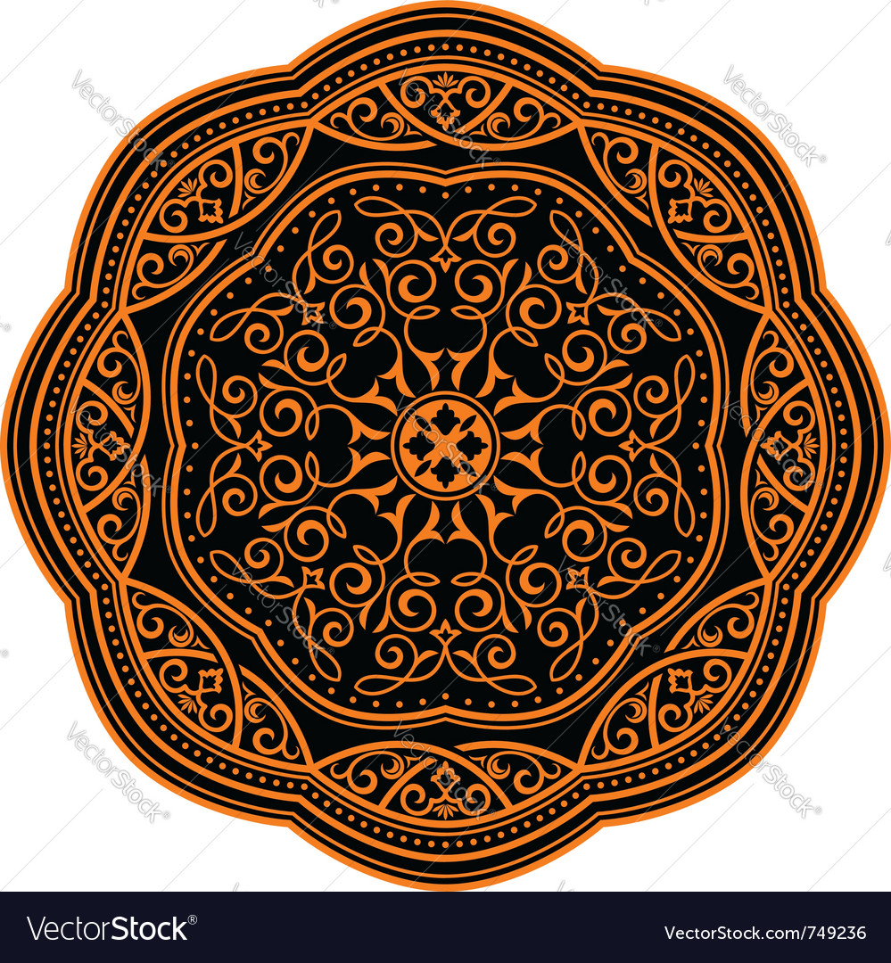 Ornamental circle pattern vector image