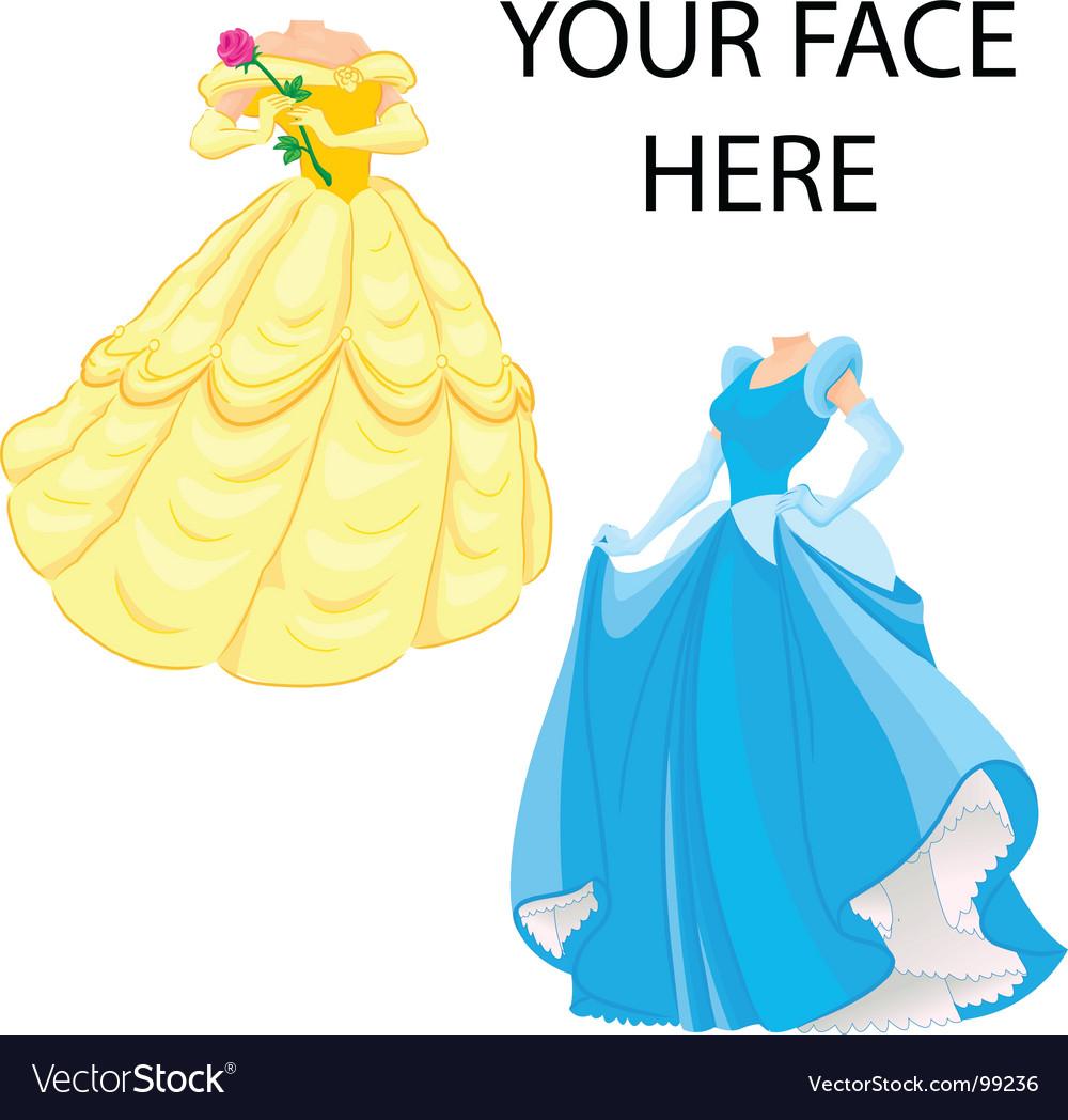 princess template vector image by vektorisasi image  princess template vector image