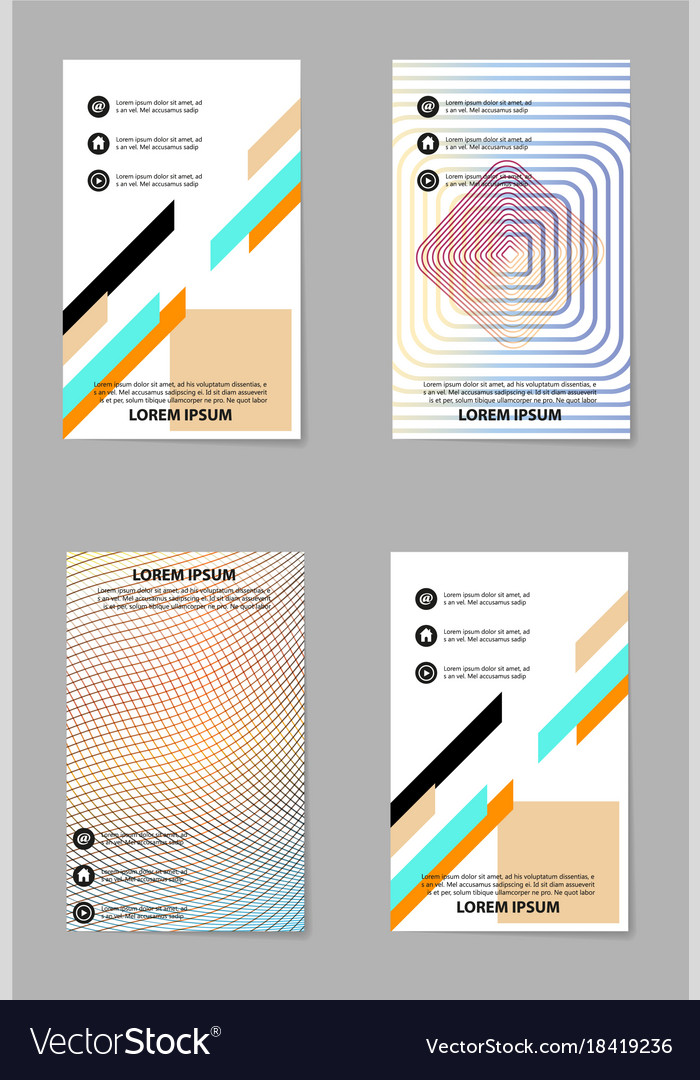 Abstract business template set brochure layout