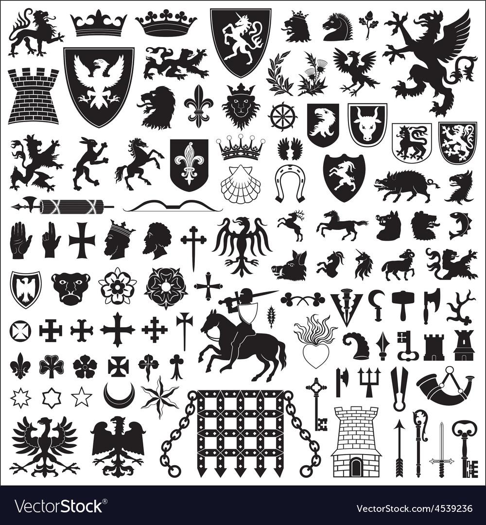 Heraldic symbols and elements royalty free vector image heraldic symbols and elements vector image biocorpaavc Gallery