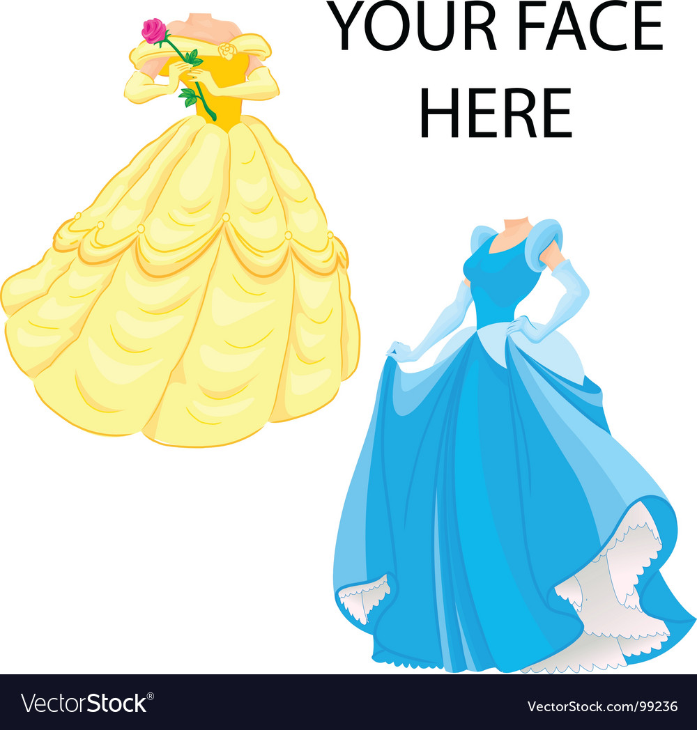 Princess template vector image
