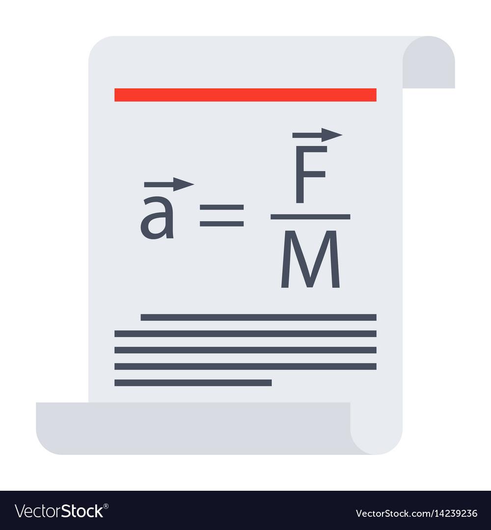Scientific law icon vector image