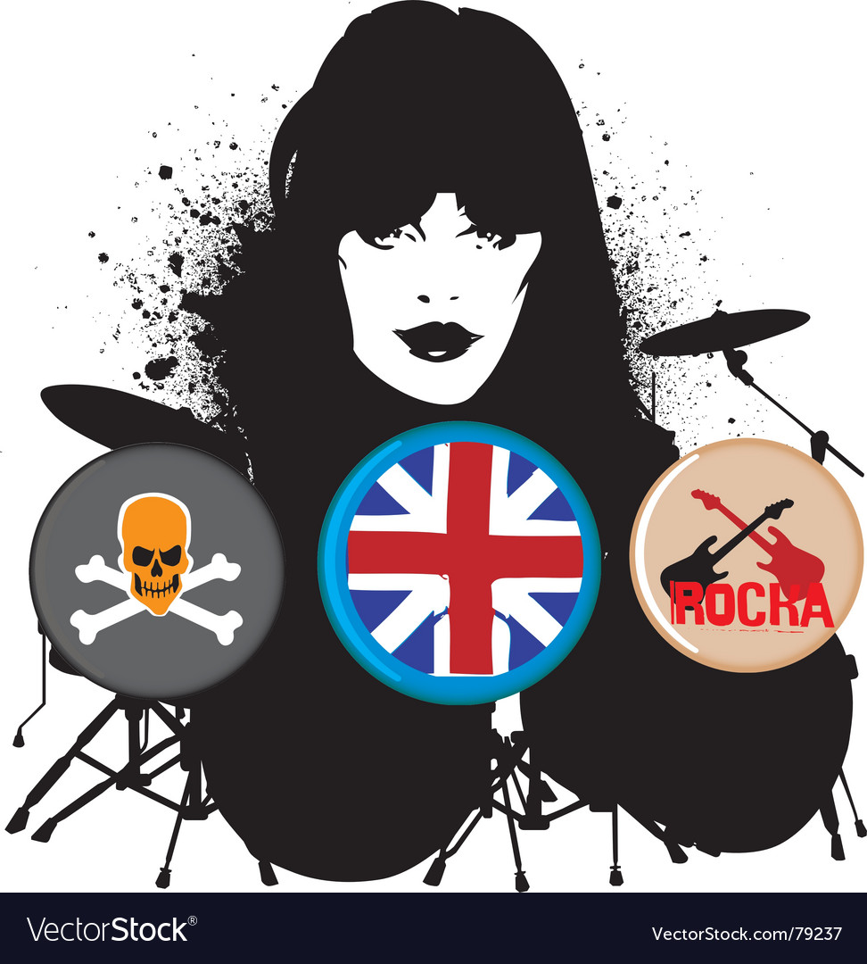 British rocker vector image