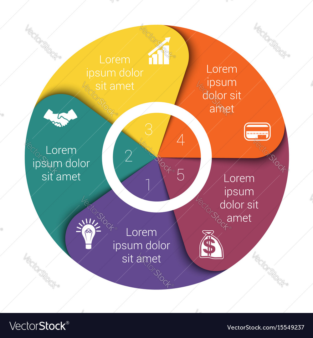 Pie chart diagram five positions royalty free vector image pie chart diagram five positions vector image nvjuhfo Choice Image
