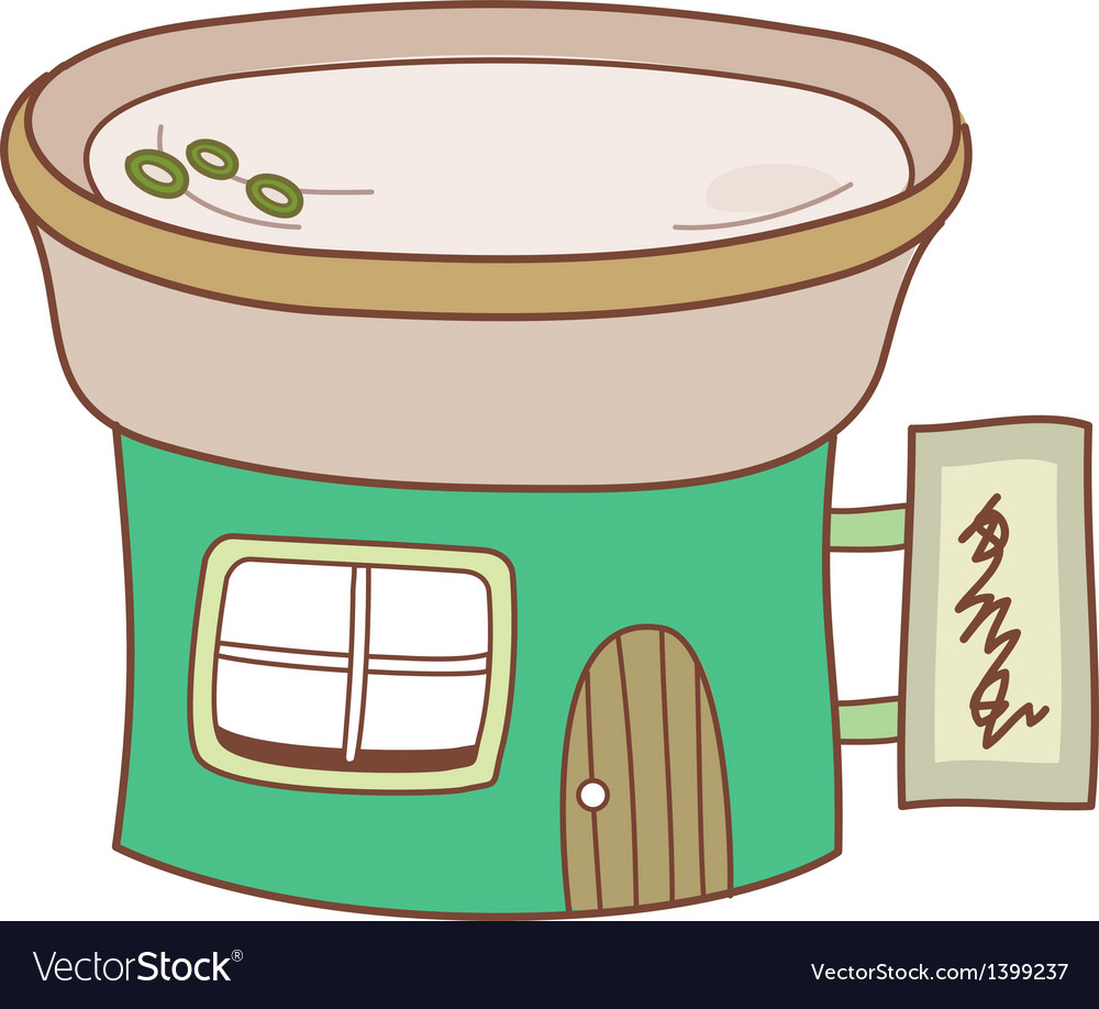 The store vector image