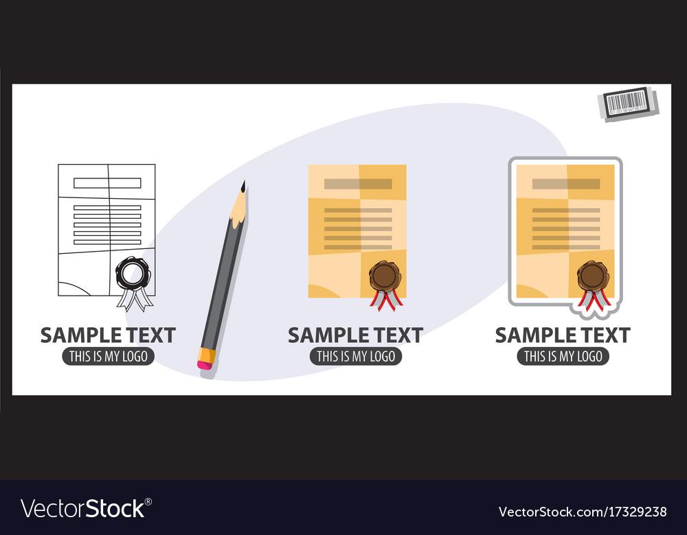 Certificate logo vector image