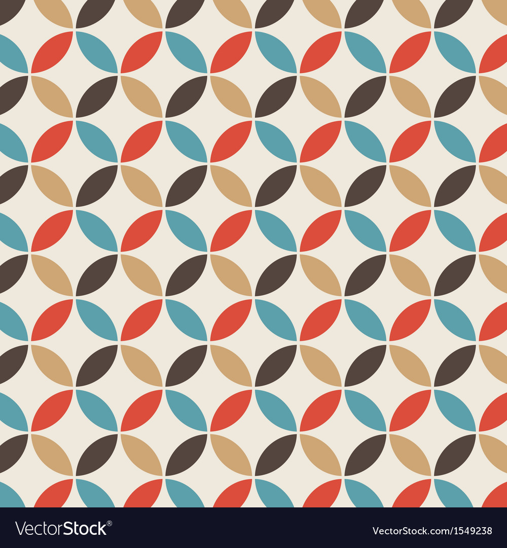 Pattern circle vintage vector image