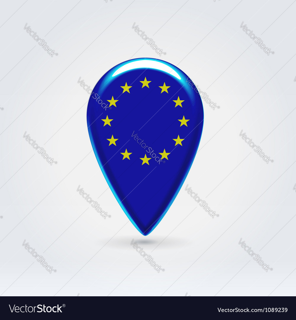 Geo location national point label Vector Image