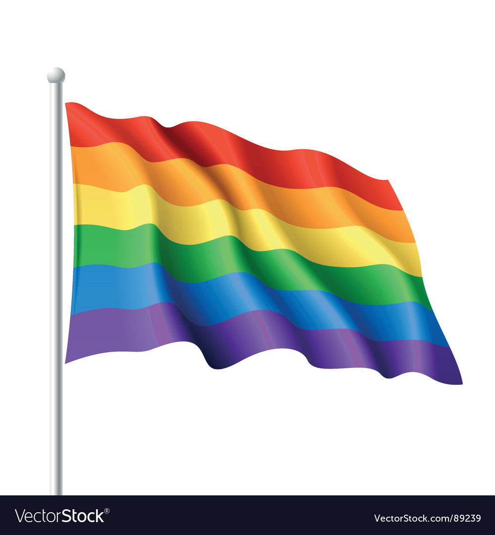 Rainbow flag vector image