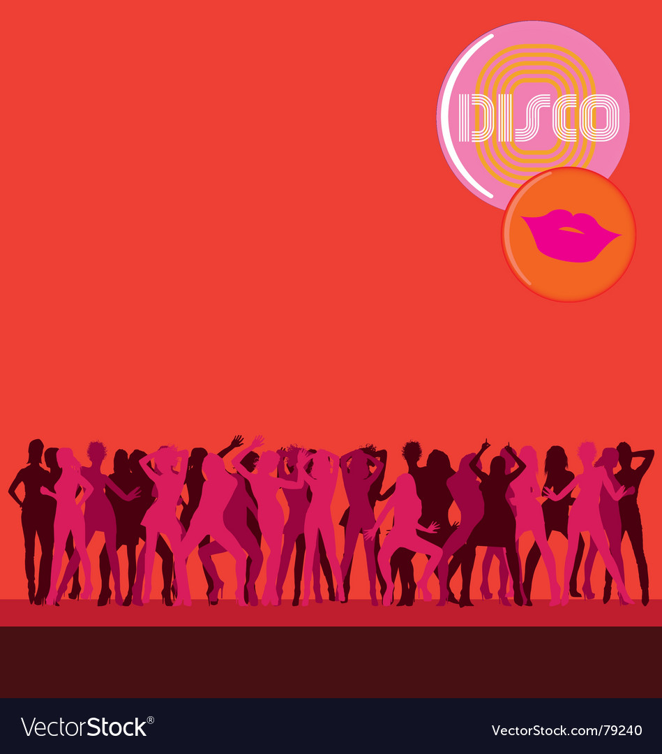 Disco dance vector image