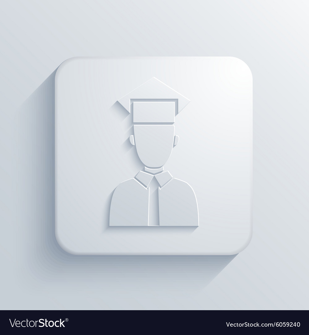 Modern student light icon vector image