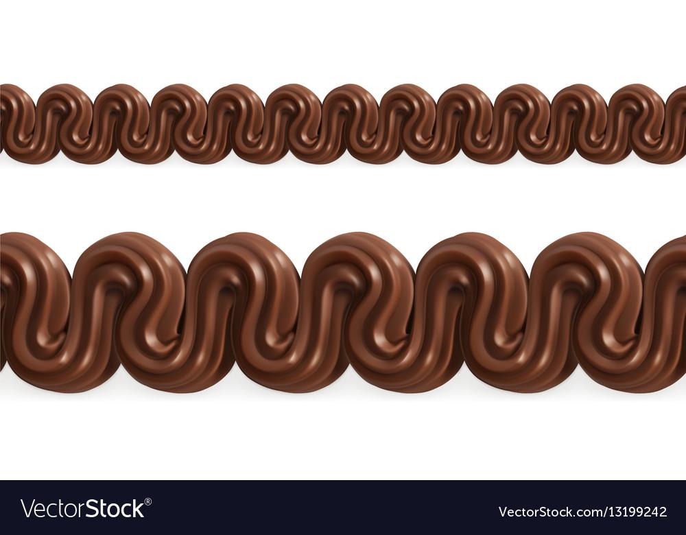 Chocolate whipped cream seamless pattern mesh vector image