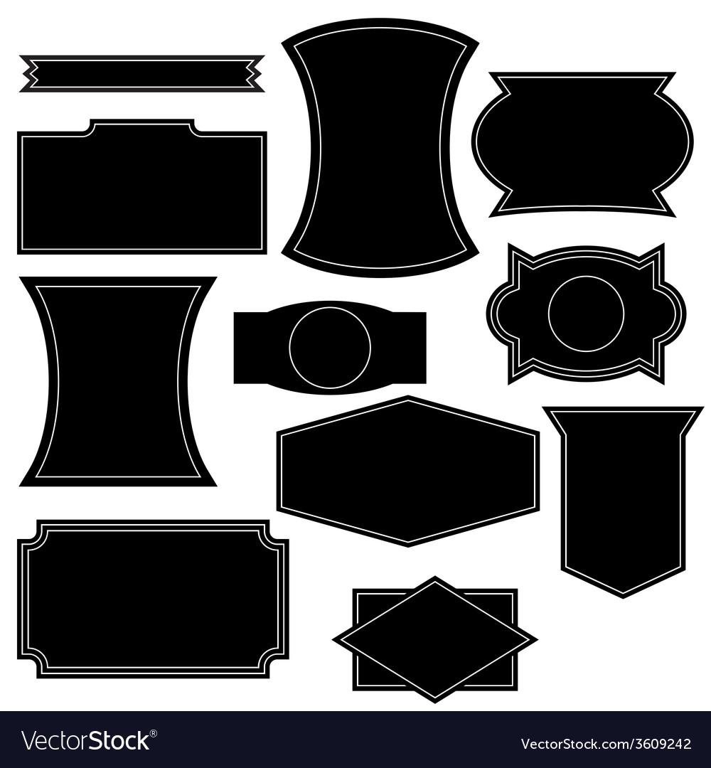 Set Of Vintage Logo Shapes Vector Image