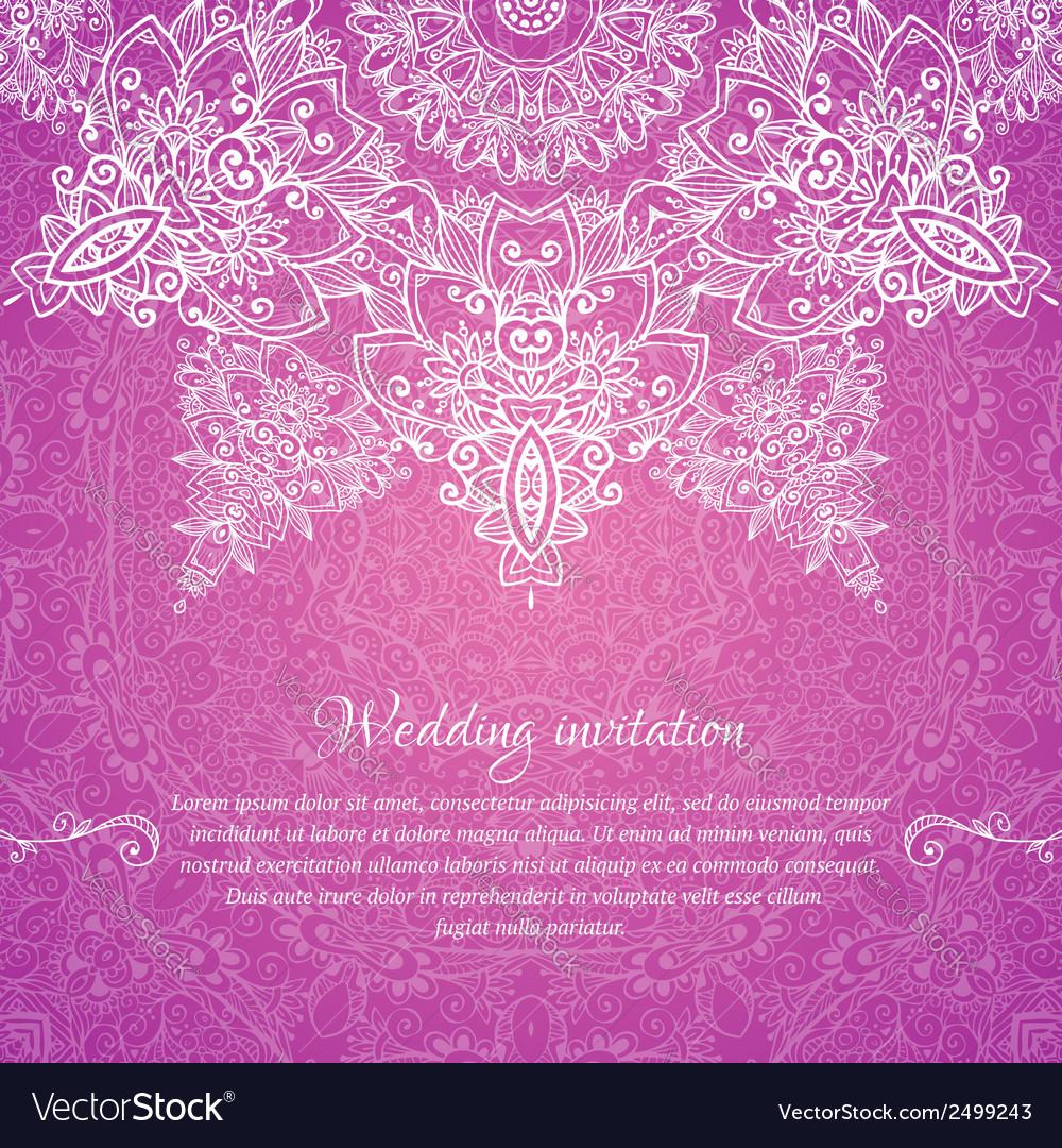 Pink Wedding Cards Background Pink ornate vintage we...