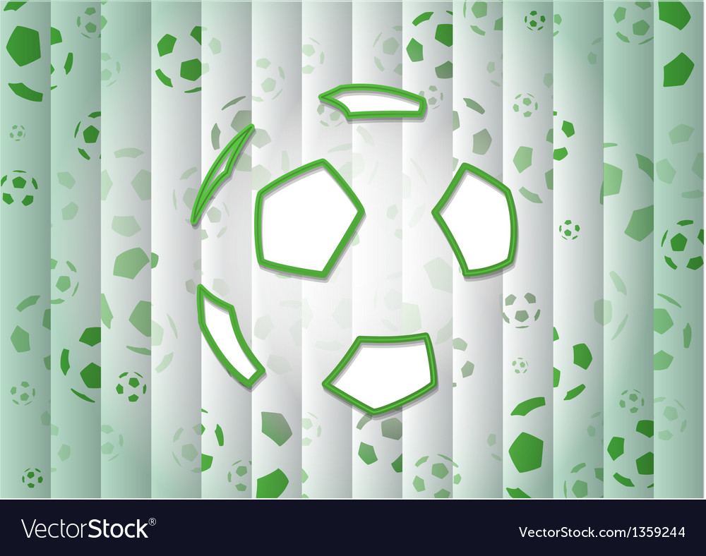 Abstract Green Background With Soccer Ball vector image