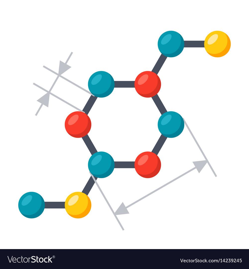 Scientific modeling icon vector image