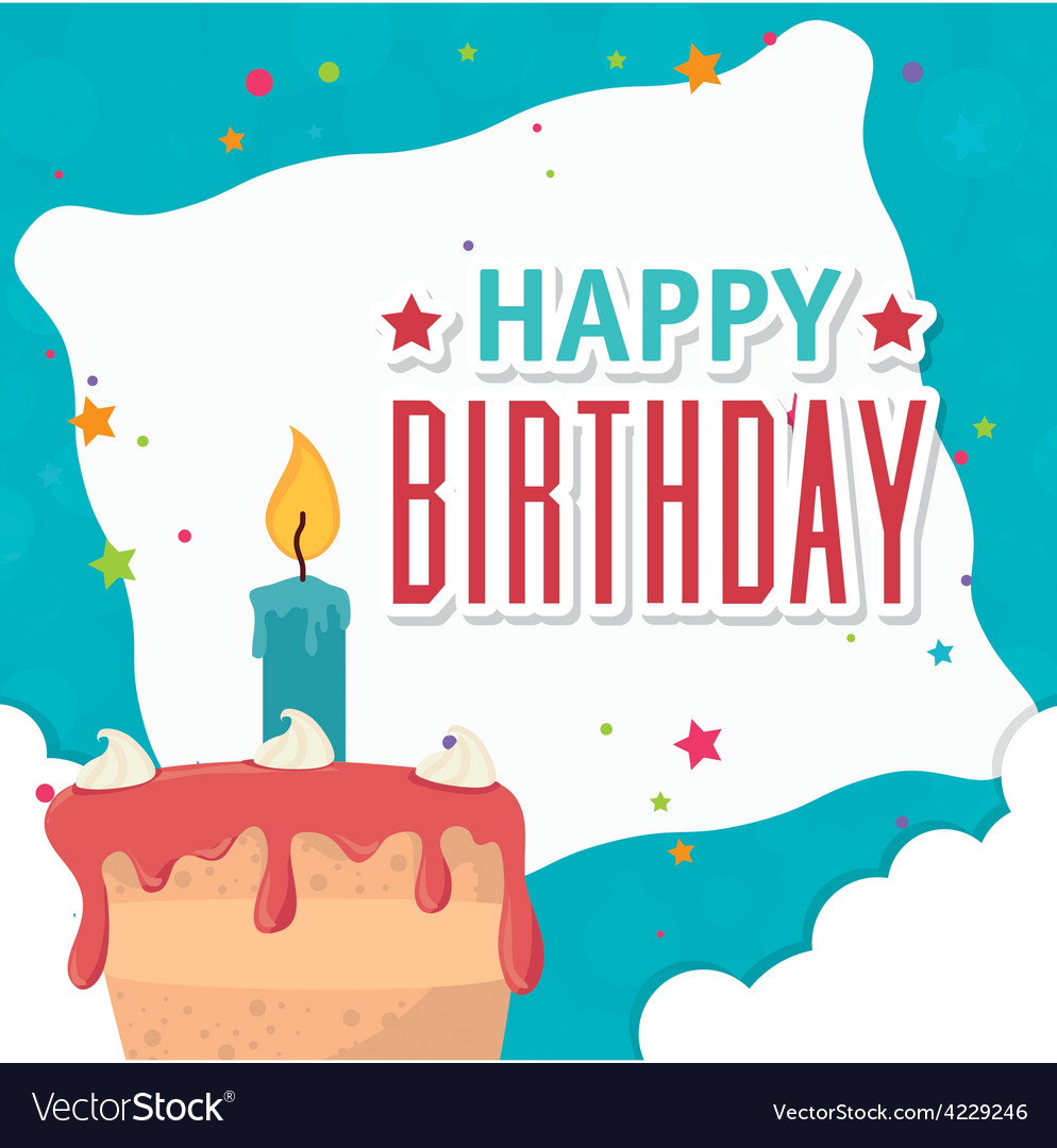 Happy birthday card design Royalty Free Vector Image – Happy Birthday Card Design Free