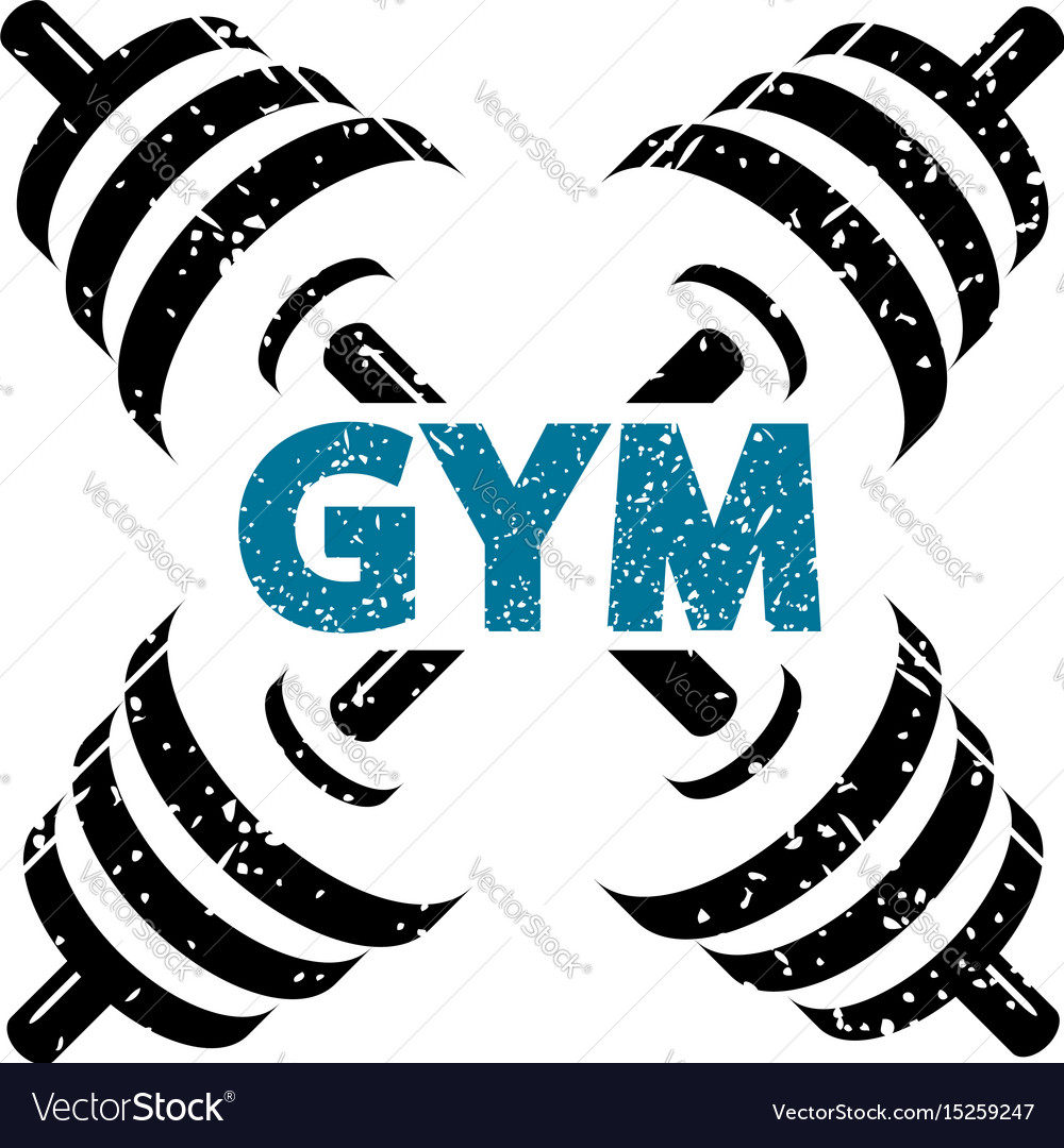 Dumbbells for gym vector image