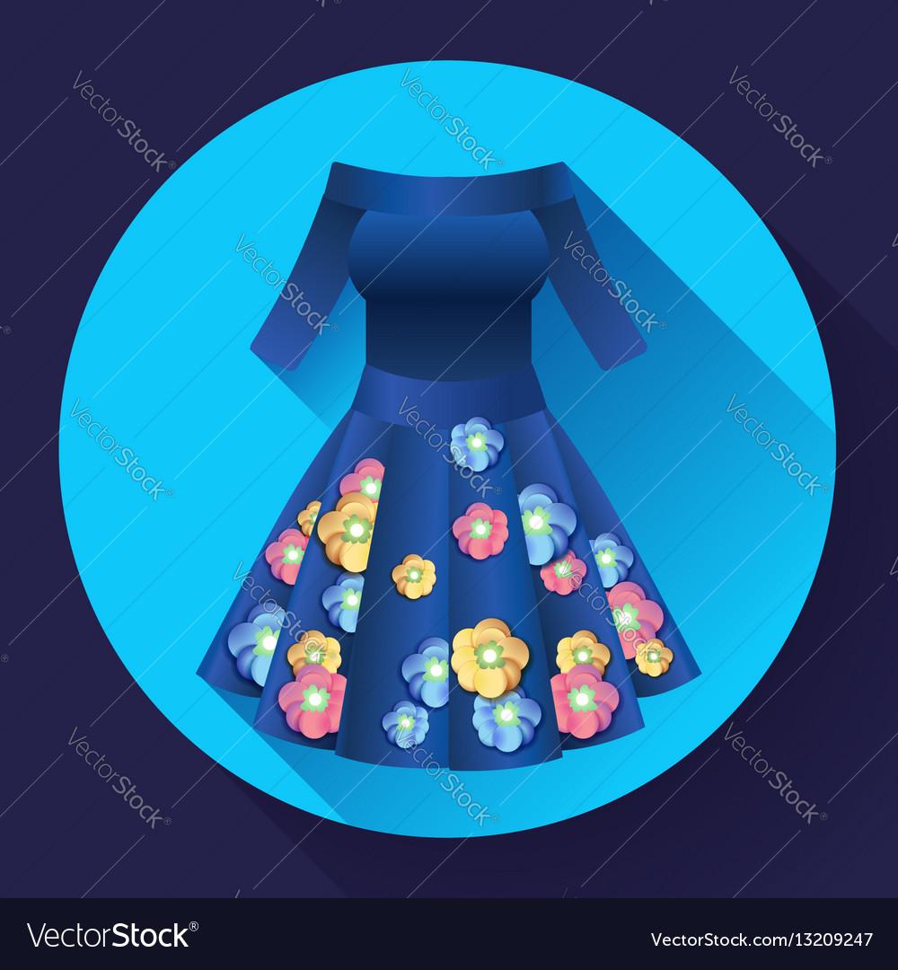 Flower dress icon vector image