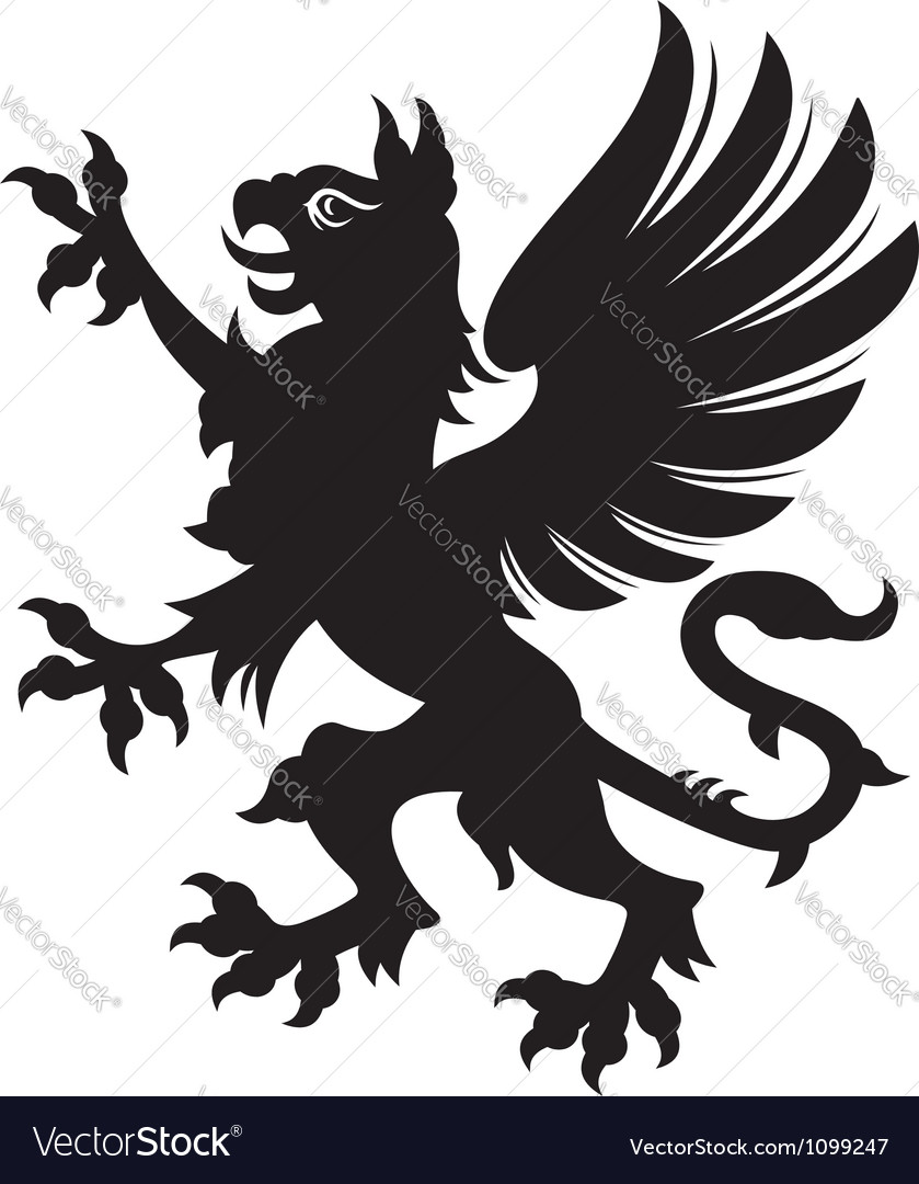 griffin heraldic tattoo royalty free vector image. Black Bedroom Furniture Sets. Home Design Ideas