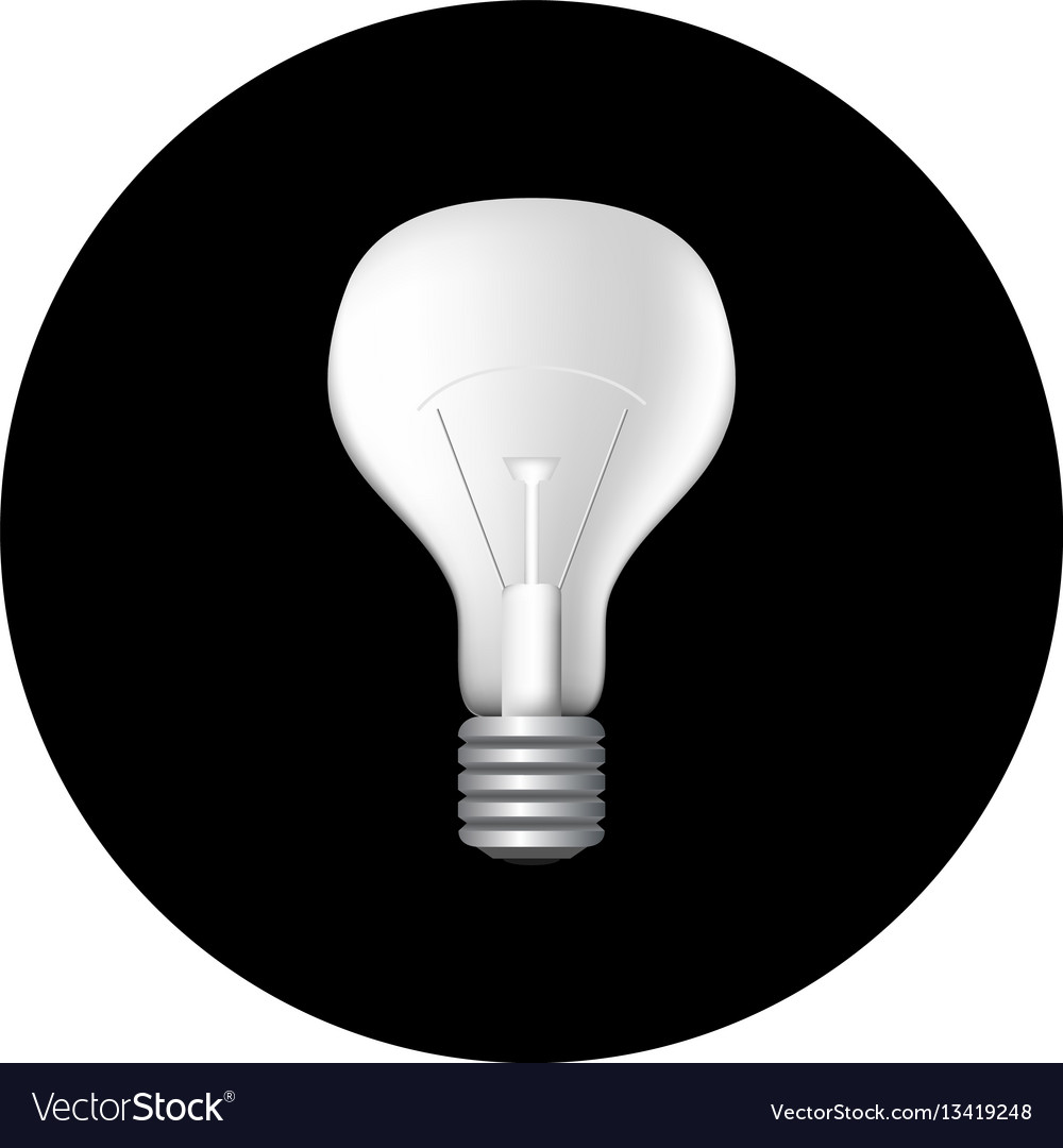 Black Ceiling Lamp Royalty Free Vector Image: Realistic Light Bulb On Black Royalty Free Vector Image