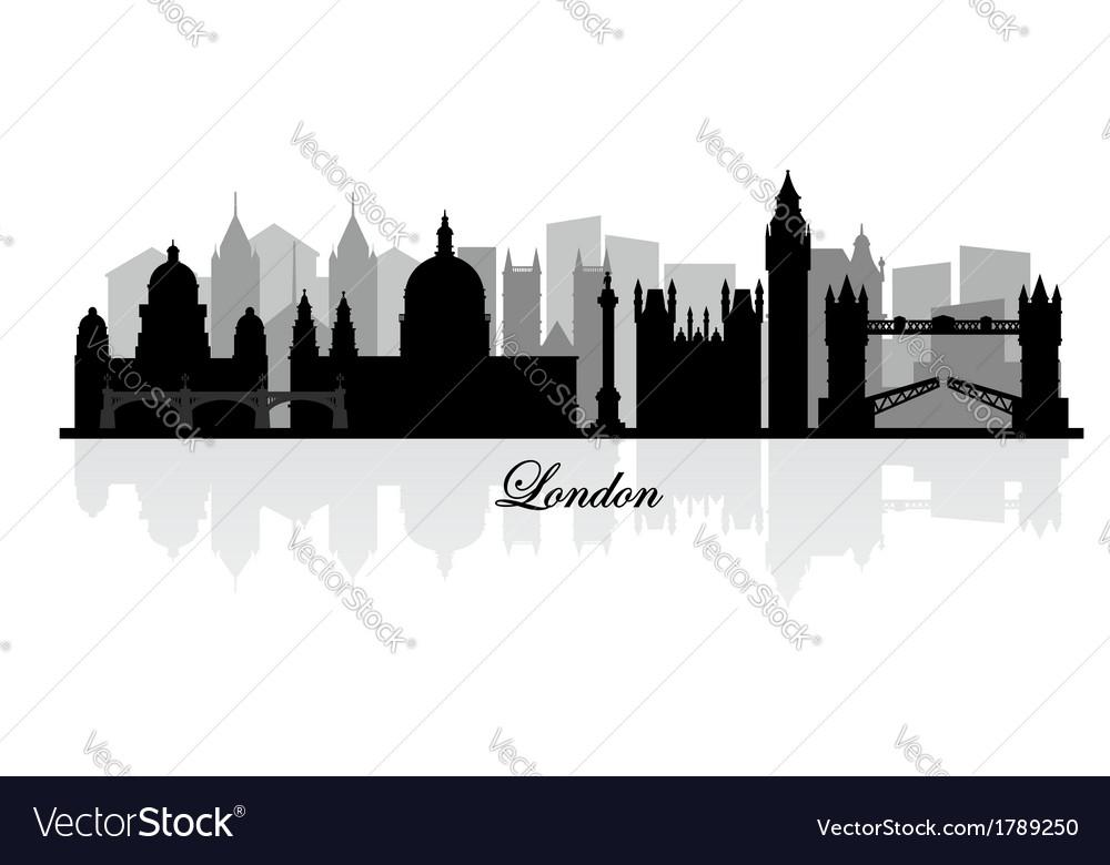 London skyline silhouette vector image